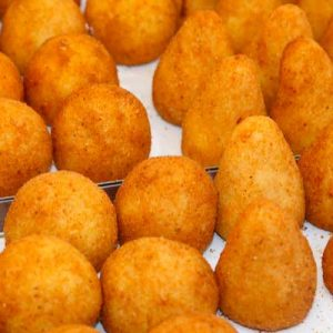 arancini stuffed fried rice balls homemade sicilian delivery amsterdam