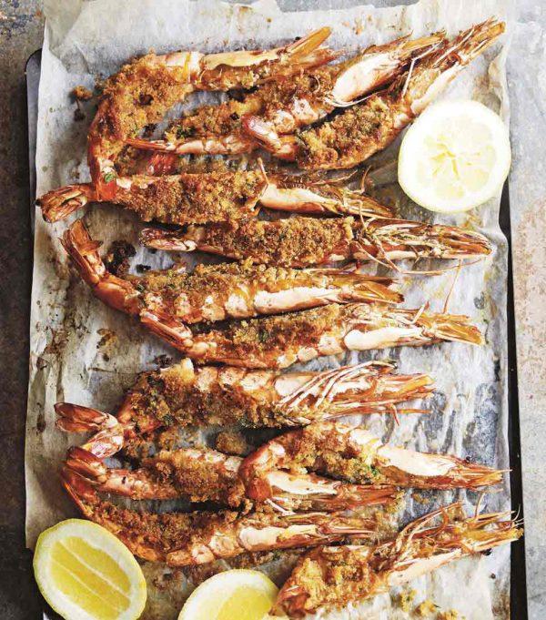 tiger prawns baked au gratin homemade sicilian delivery amsterdam