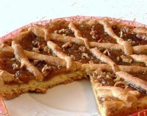 crostata with figs jam and walnuts homemade sicilian delivery