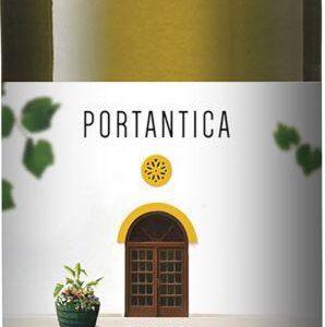 Bottle of white wine portantica