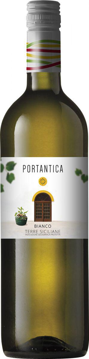 Bottle of white wine portantica