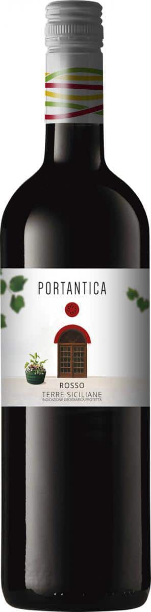 Bottle of red wine portantica