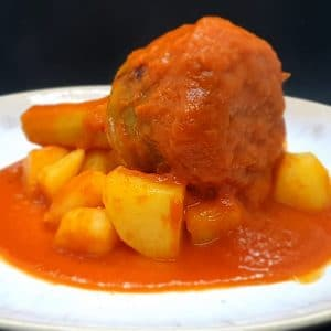 artichoke stuffed with tomato sauce and potatoes sicilian delivery