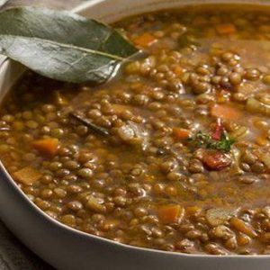 lentils soup with carrots and tomato